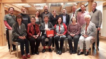 Die Kandidatinnen und Kandidaten der SPD Weilheim
